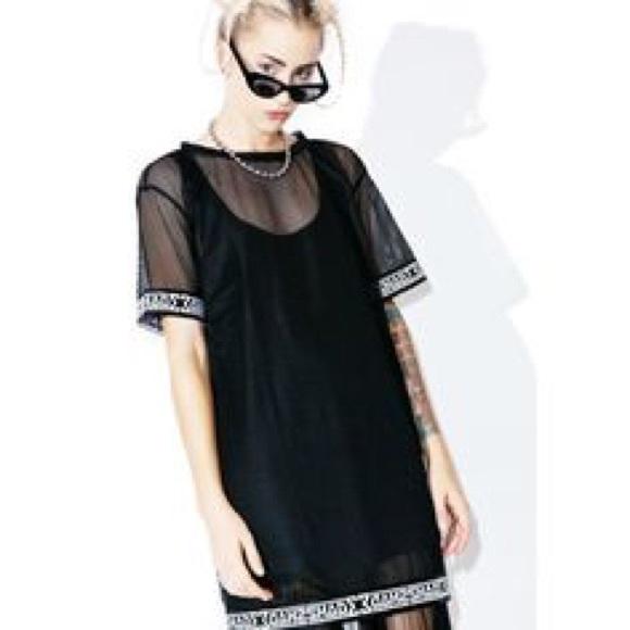 90ae24bf2a1 ASOS Tops | Shade London Mesh Tshirt Dress Black | Poshmark